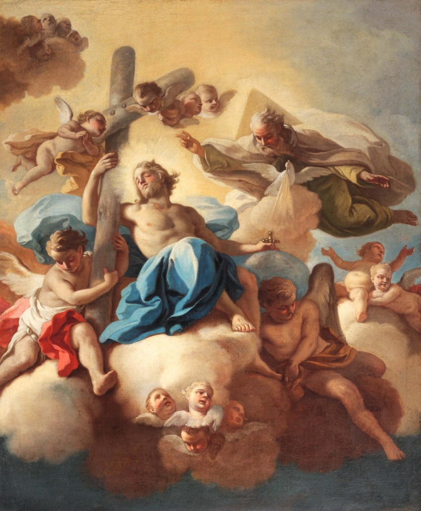 Francesco de Mura, 'The Trinity,' oil on canvas, circa 1741. Photo submitted