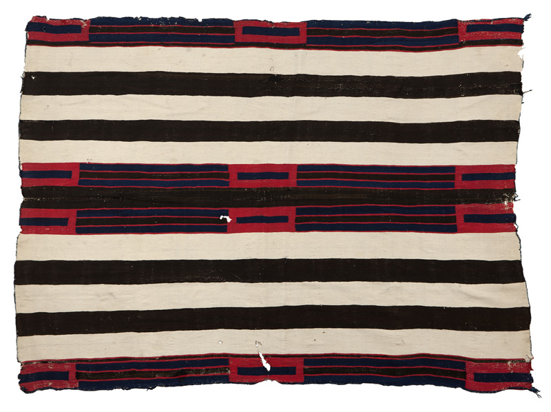 Estimated at $10,000-$15,000, this classic Navajo second phase chief's blanket sold for an astounding $90,000 through LiveAuctioneers.com. John Moran Auctioneers image