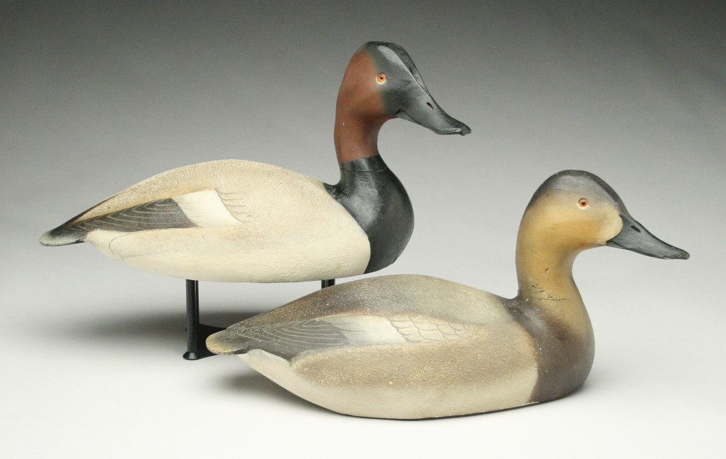 Pair of canvasback decoys