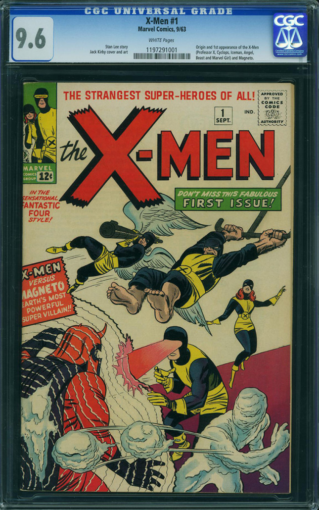 X-Men #1, published 1963, CGC-graded 9.6, sold Feb. 19, 2016 through ComicLink's Comic Book Exchange for $350,000. Image courtesy of ComicLink