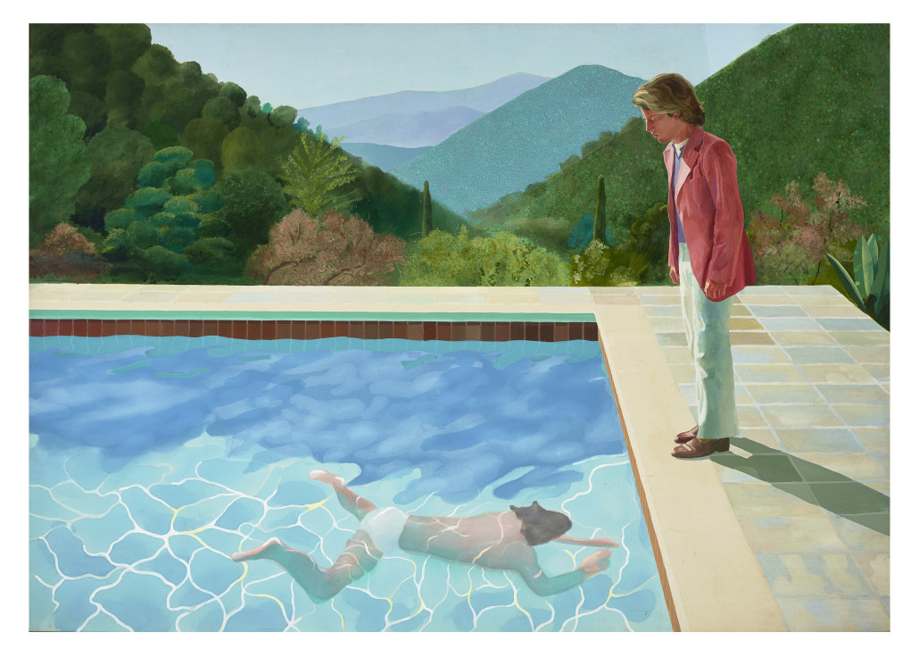 David Hockney, 'Portrait of an Artist (Pool with Two Figures),' 1971, private collection. © David Hockney. Courtesy of Tate Britain.