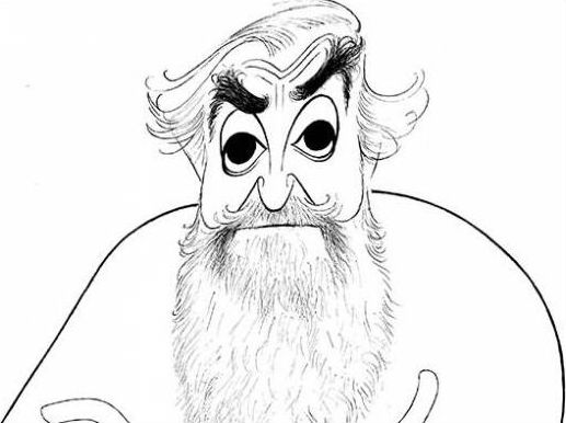 Al Hirschfeld self-portrait. Image courtesy of Rago Arts & Auction Center