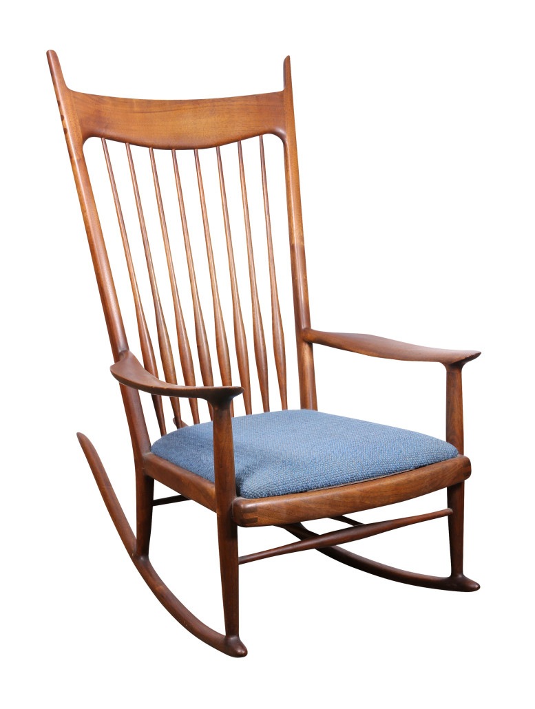 Sam Maloof Created This Rocking Chair In 1968. This Masterpiece In Furniture  Design Comes To