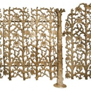 The intricate design of this brass fence and gate is quintessentially Victorian. The gate and 45 feet of fence sold for $18,750 at Guernsey's on March 28, 2015. Image courtesy of LiveAuctioneers.com