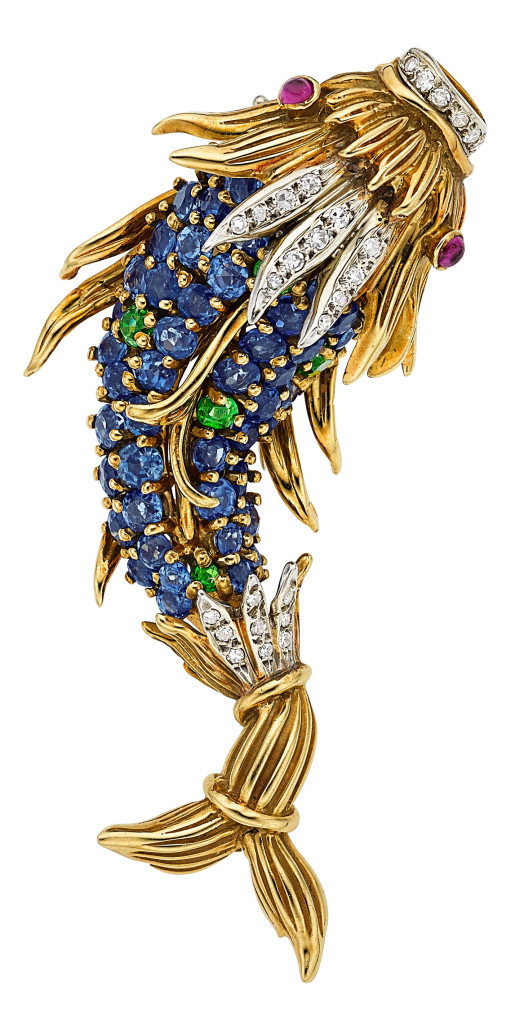 Diamond and gold brooch, Jean Schlumberger for Tiffany & Co. Estimate: $10,000-$15,000. Heritage Auctions image