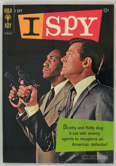 Bill Cosby and Robert Culp, who co-starred in 'I Spy,' are pictured on a comic book based on the 1960s TV series. Image courtesy of LiveAuctioneers.com archive and Heritage Auctions