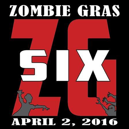 Official logo for Zombie Gras 6. Courtesy GEM