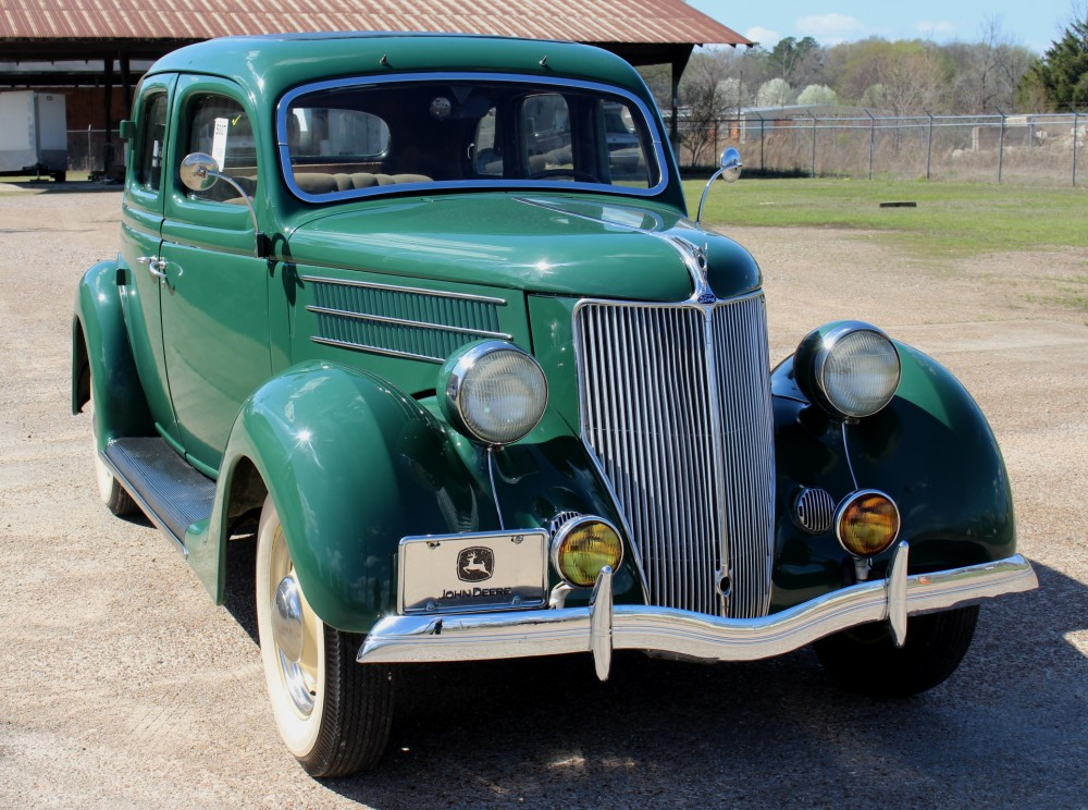 This 1936 Ford sedan has new tires and runs perfectly. Stevens Auction Co. image