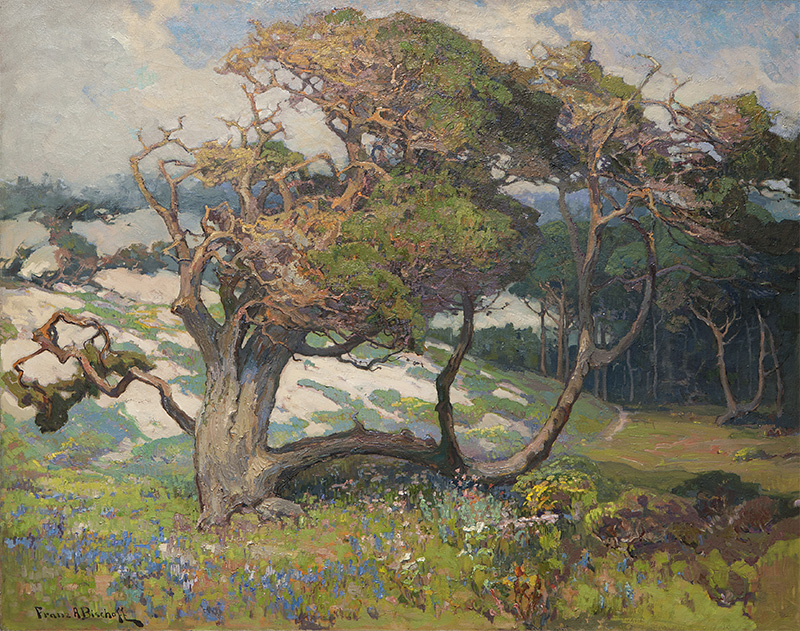 'Sand Dunes and Pines, Monterey Coast, Calif.' by Franz Bischoff (1864-1929) earned top-lot status at the auction, realizing $180,000. John Moran Auctioneers image.