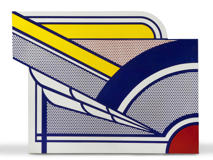 Porcelain enamel on steel titled 'Modern Painting in Porcelain,' by Roy Lichtenstein (American. 1923-1997). Price realized: $189,750. Cottone Auctions image