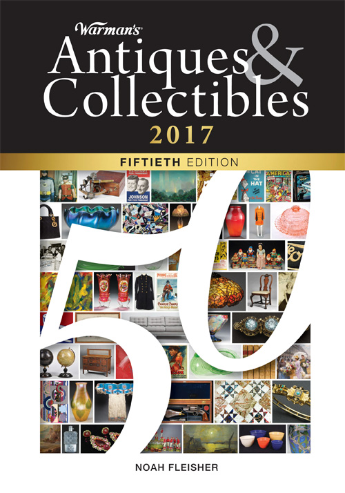 The cover of the 50th edition of 'Warman's Antiques & Collectibles.' Image couretesy of Krause Publications