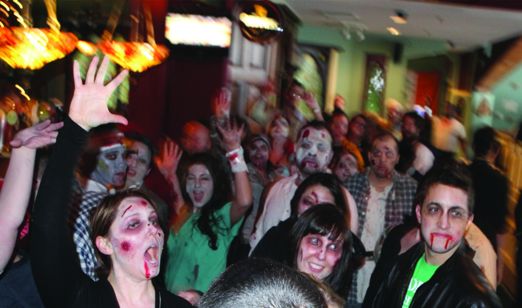 Revelers put their game faces on for Zombie Gras 2015 held at Geppi's Entertainment Museum. Image courtesy GEM