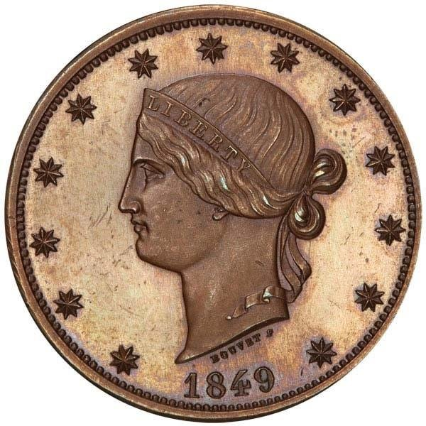 1849 pattern $10 coin