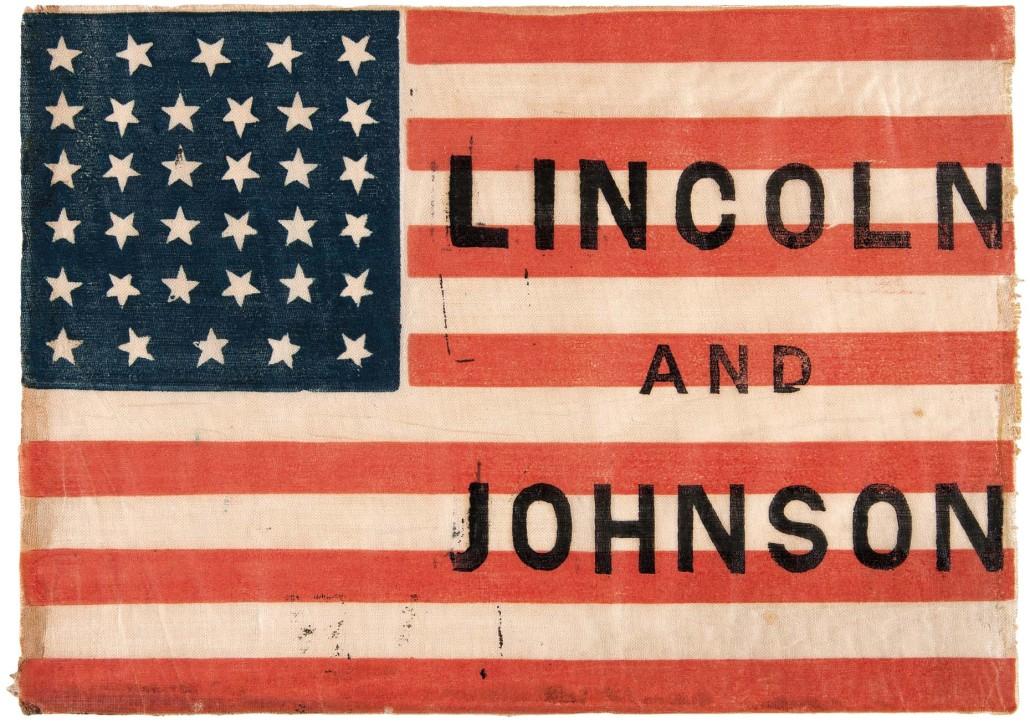 1864 Lincoln campaign flag