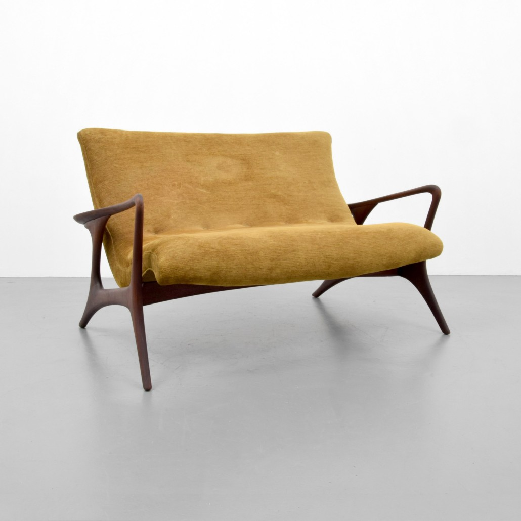 Contemporary Art Furniture In Vladimir Kagan contour Loveseatsofa Walnut Frame With Upholstery Est Palm Beach Moderns May 14 Auction Features Finest Midcentury