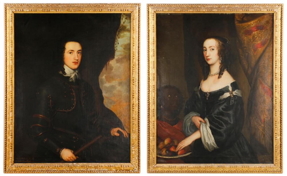 Pair of British portraits