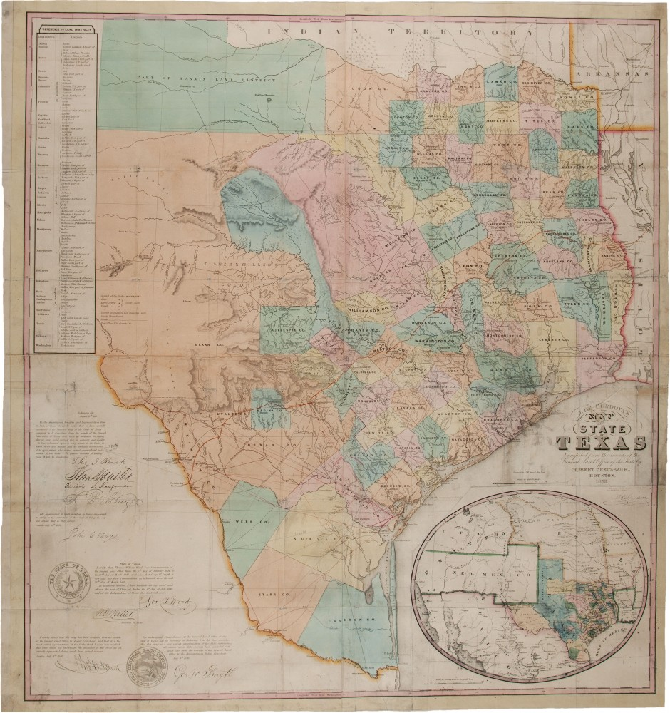 Rare early map of Texas