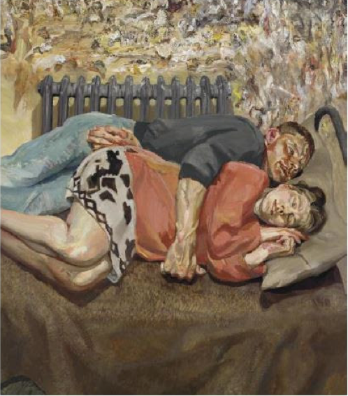 Lucian Freud, 'Ib and Her Husband,' 1992. Christie's image