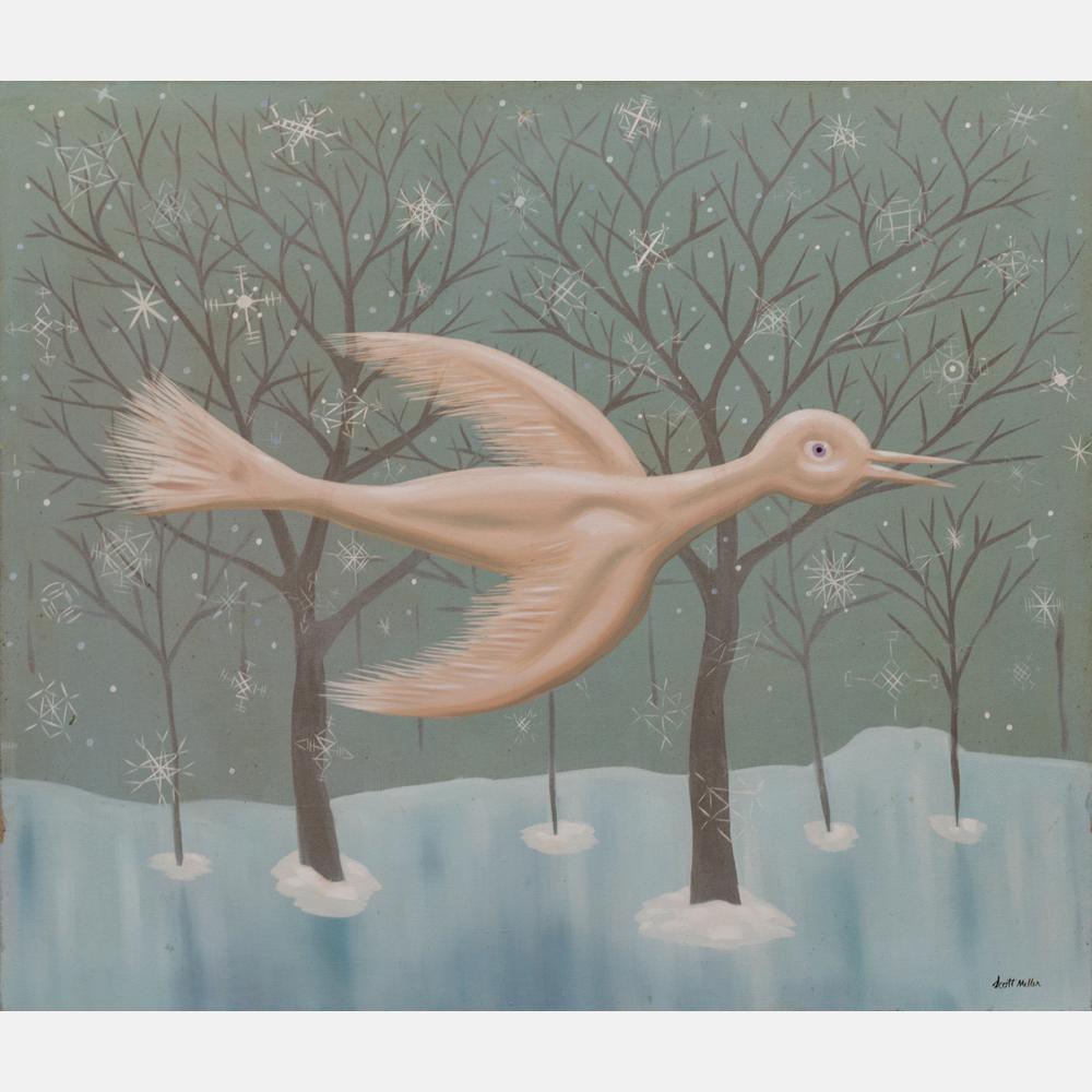 Lot 1A, Scott Miller (1955-2008) Snow Bird. Gray's image