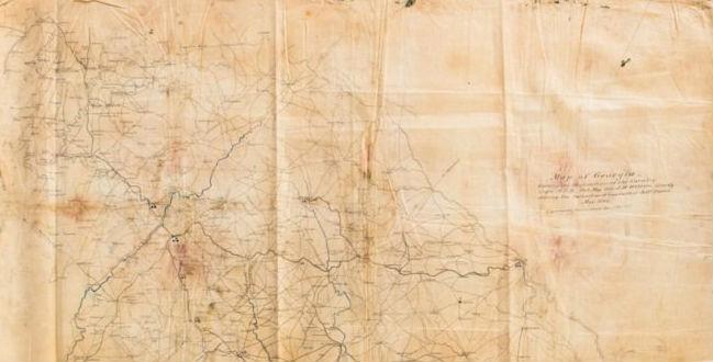 Centurion Auctions features Jefferson Davis capture map in May 28 sale