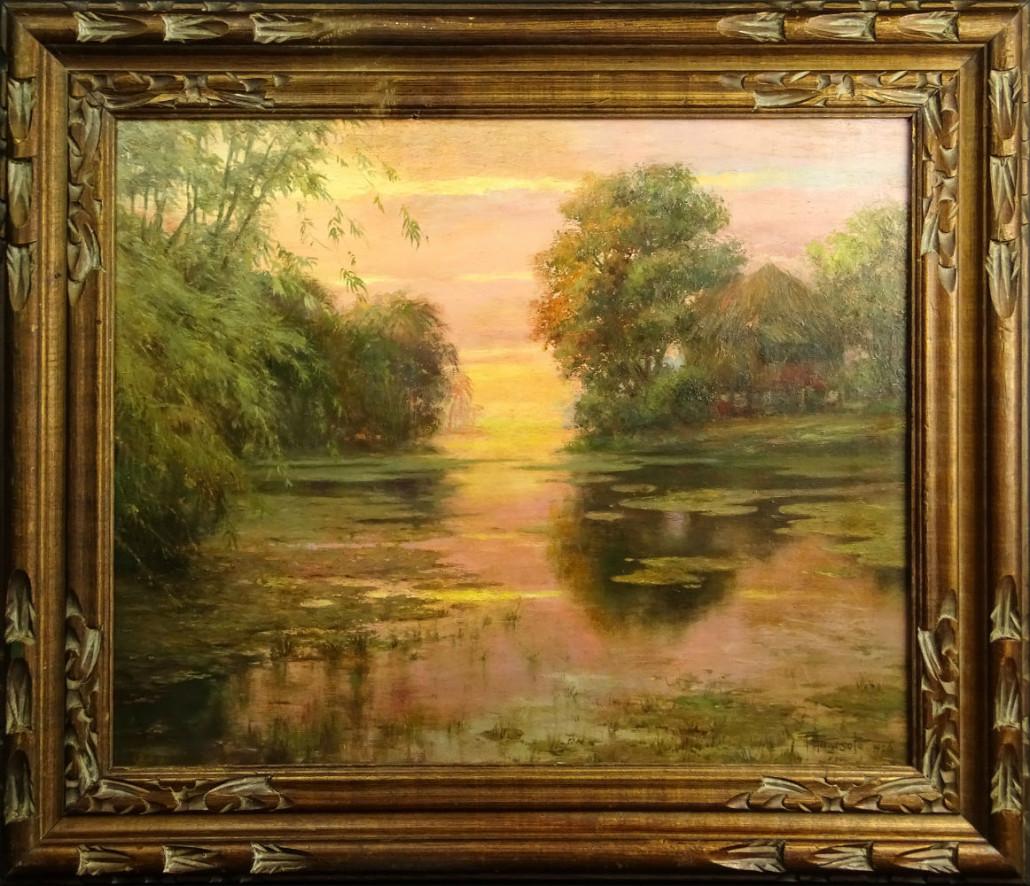 Fernando Cueto Amorsolo (Filipino,1892-1972), oil on board. Price realized: $187,550. Kodner Galleries image