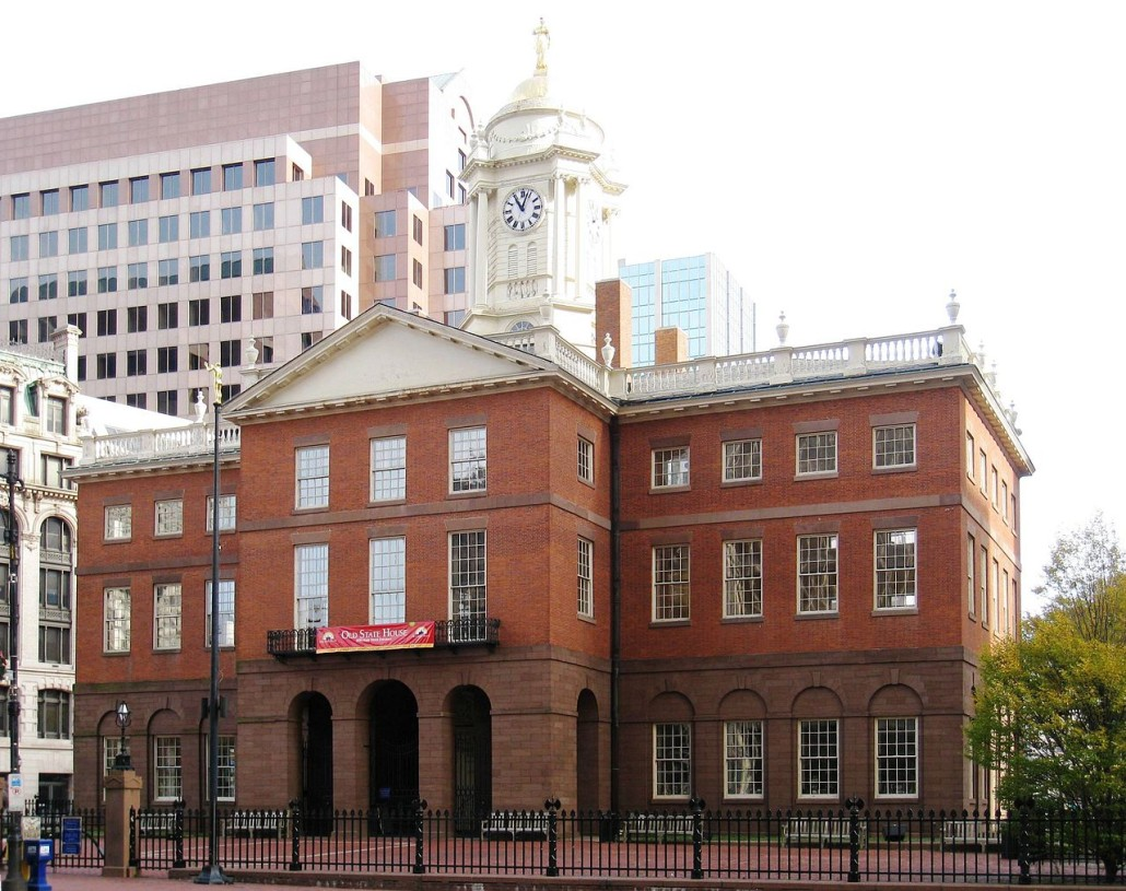 The rear facade of the Old State House in Hartford, Connecticut. Charles Bulfinch (1763-1844) was the architect. This building was completed in 1796. Image courtesy of Wikimedia Commons
