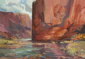 Laurence Sisson landscapes featured in waca art auction July 9