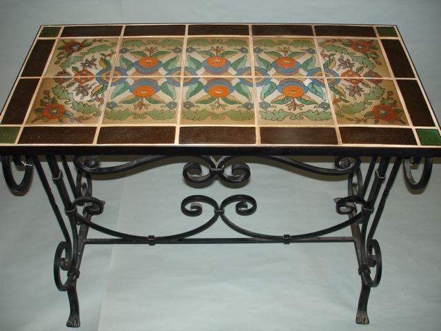 This Taylor 10 Tile Table Is The Perfect Height For Use In An Entrance Hallway
