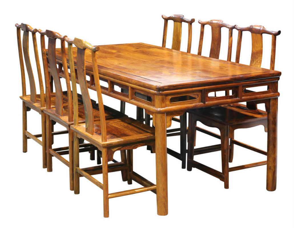 From The Dr. Bernard C. Gerber Collection, This Huanghuali Rectangular  Dining Table And