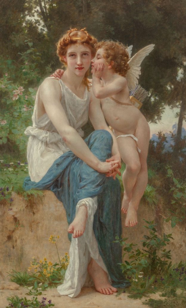 'Le secret d'amour,' by French painter Guillaume Seignac sold for $250,000. Heritage Auctions image