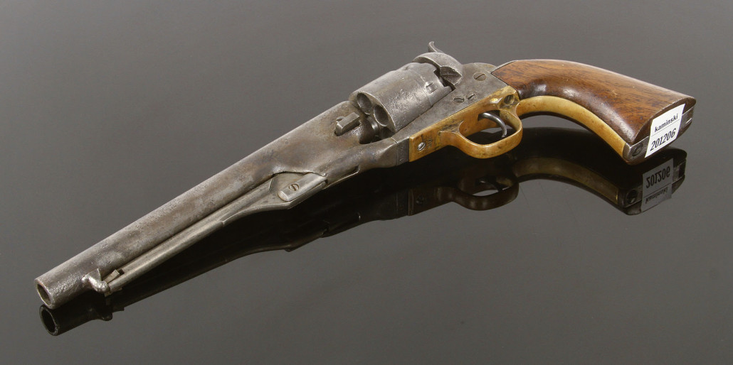1860 Colt Army revolver. Kaminski Auctions image