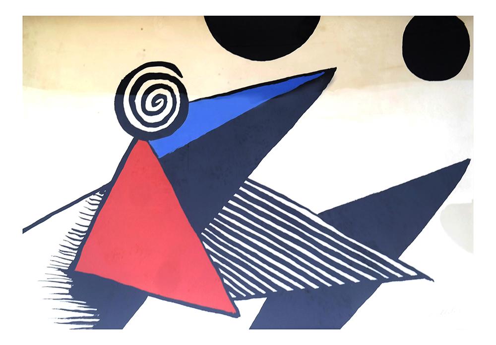 Alexander Calder lithograph, 'Bonnet Phygien et Barres de Feu' Estimate: $3,000-$5,000. Roland Auctions NY image