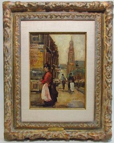 Isaac Lazarus Israels oil on panel painting, 12in x 9in (panel). Estimate: $9,000-$12,000. Auctions Neapolitan image