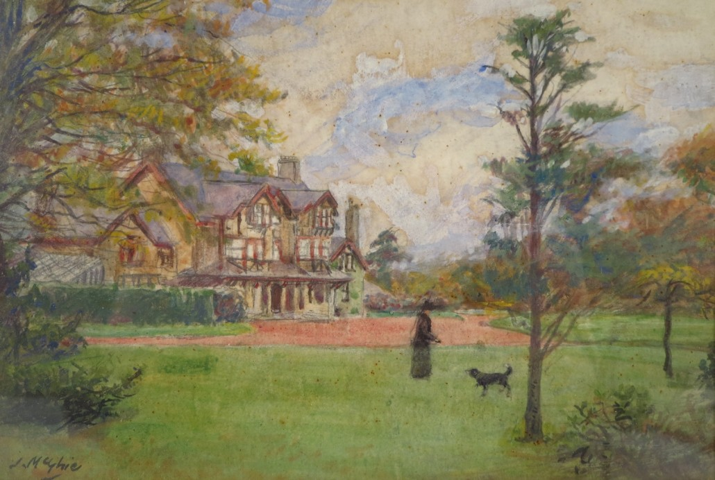 John McGhie (Scottish, 1867-1952), 'Well Hall, Lanarkshire,' circa 1916, est. $400-$600
