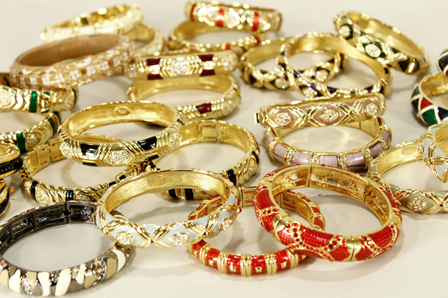 Group lot of Joan Rivers' bracelets from her personal collection