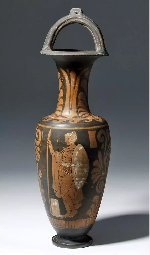 Large Greek Campanian pottery bale-handle amphora, est. $5,000-$7,000