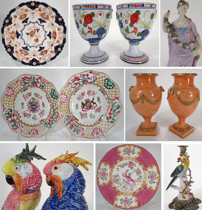 Beautiful European porcelains from the residences of Joan Rivers