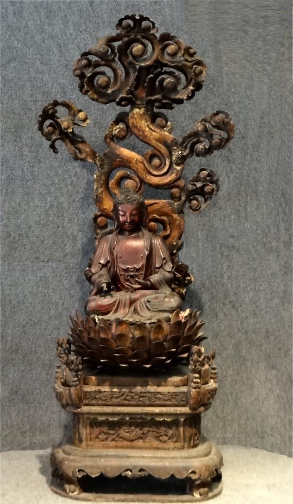 Buddha on lotus shrine