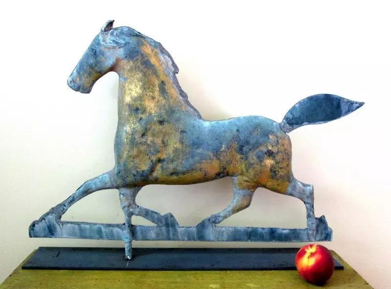 Copper and zinc trotting horse weathervane, est. $900-$1,800