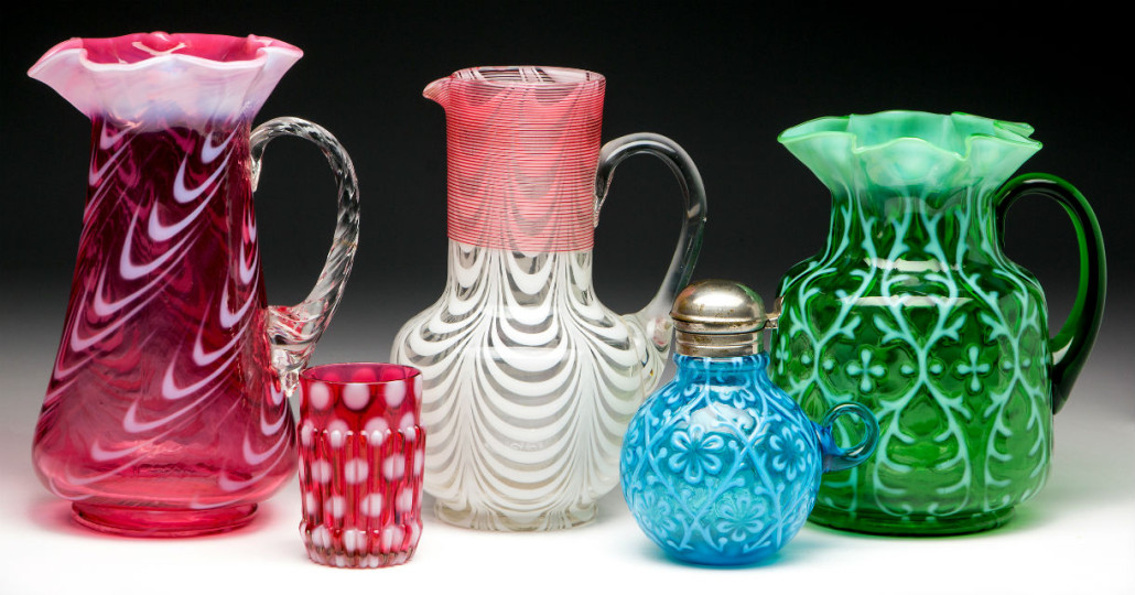 Sample of Victorian glass of all types. Jeffrey S. Evans & Associates image