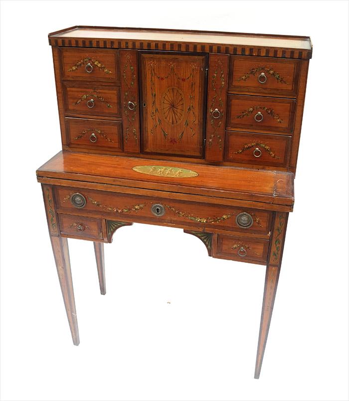 Lot-203 - 19th century Adams ladies' desk. Estimate: $800-$1,200. Roland Auctions NY image