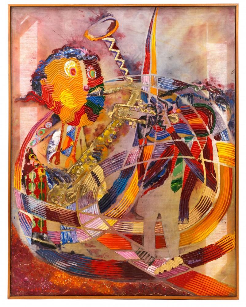 Wadsworth Jarrell oil painting