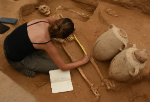 Ancient burial site may help solve mystery of biblical Philistines