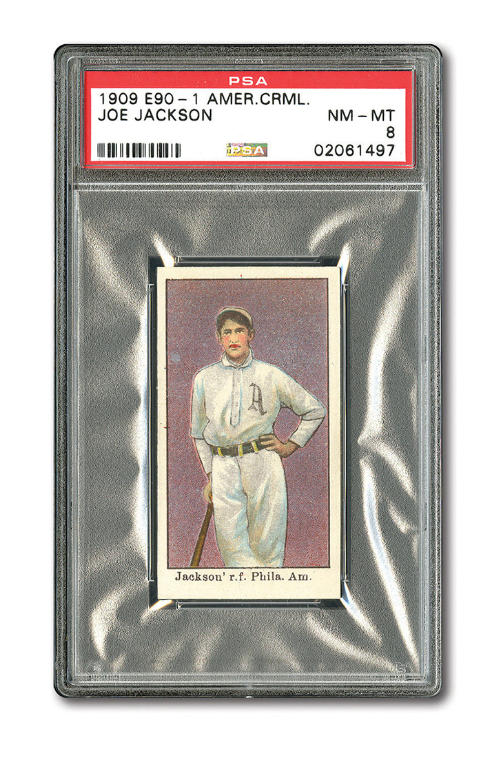 1909 Joe Jackson Baseball Card Knocks It Out Of The Park Selling