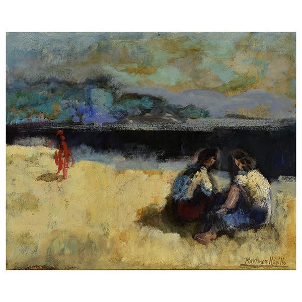 Cirilo Martinez Novillo (Spanish, 1921-2008), 'Figuras en la Playa,' oil on canvas, est. $2,500-$3,000