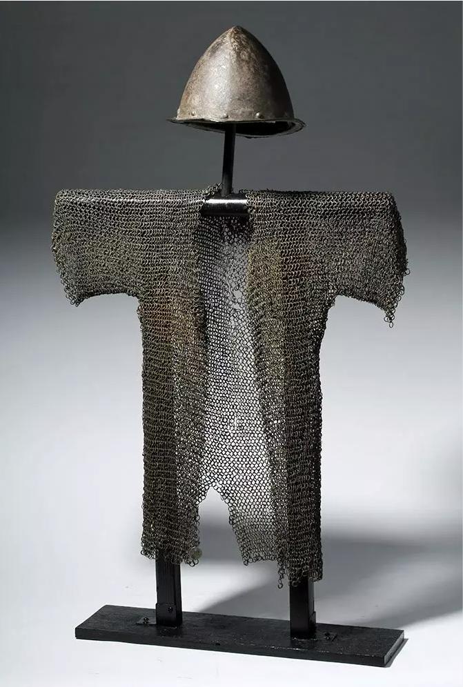 16th-century Spanish conquistador helmet and chain mail hauberk, found in New Mexico, est. $10,000-$15,000
