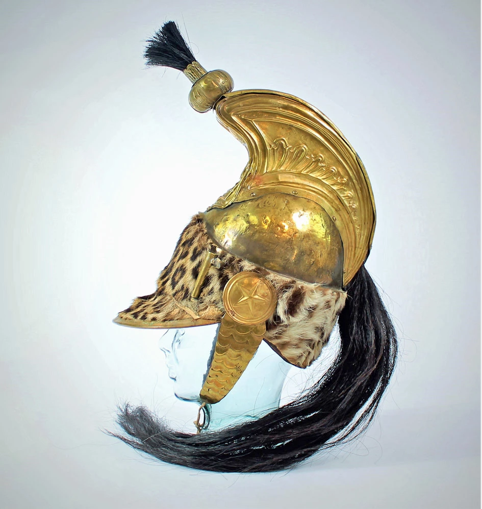 Circa-1806 French trooper's helmet from the Napoleonic Wars, one of very few known that were worn at Waterloo, est. $75,000-$100,000