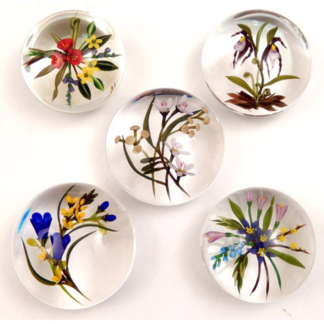 Chris Buzzini art glass paperweights, Part II from a Manhattan private collection