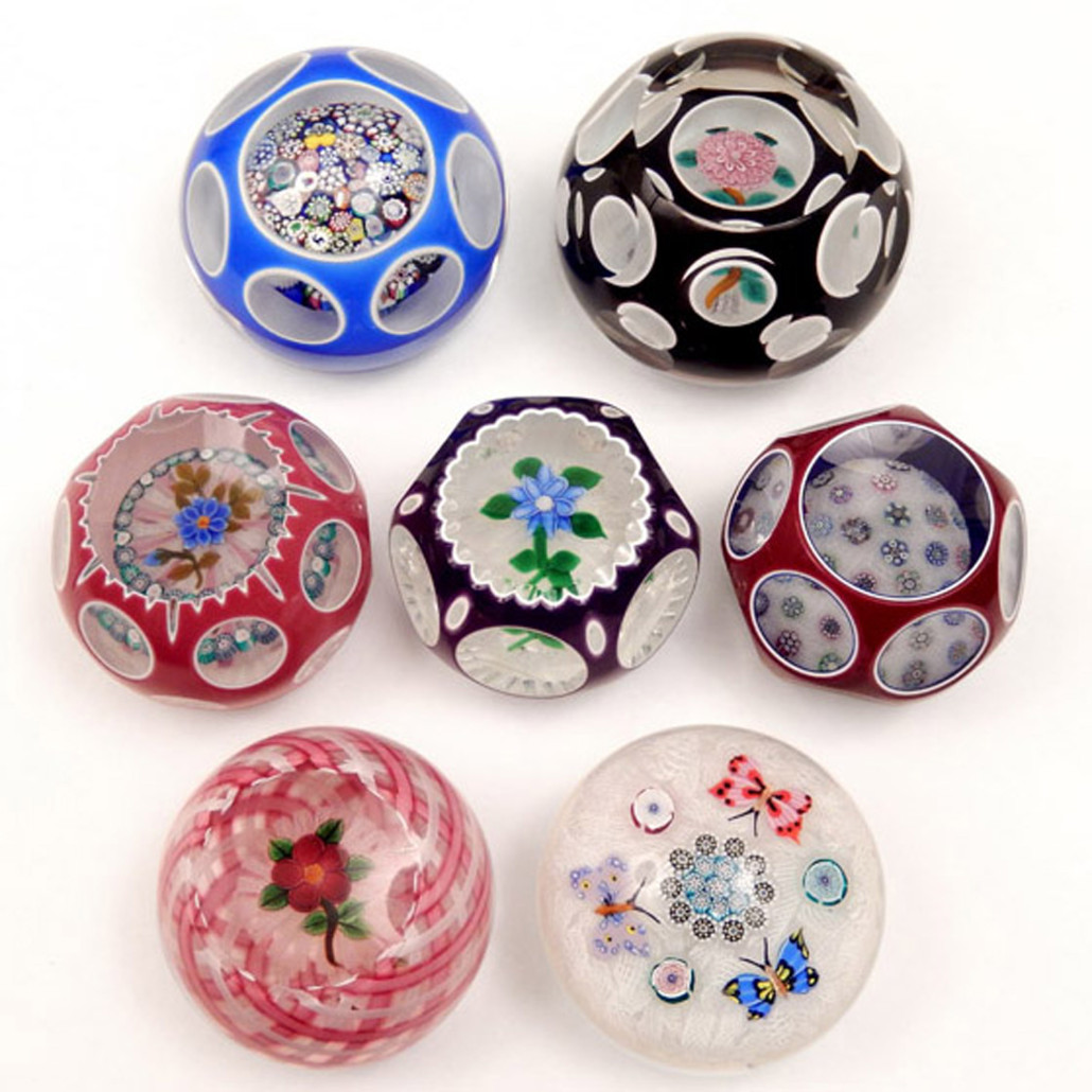 John Deacons art glass paperweights, Part II from a Manhattan private collection