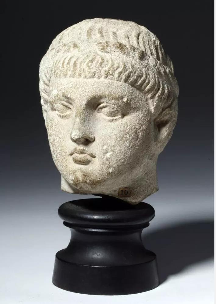 Published Cypriot limestone head, ex-Metropolitan Museum of Art, circa 310 BCE, est. $30,000-$40,000